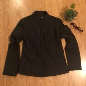 Coldwater Creek Jackets & Coats - Dark Gray Military Style Jacket